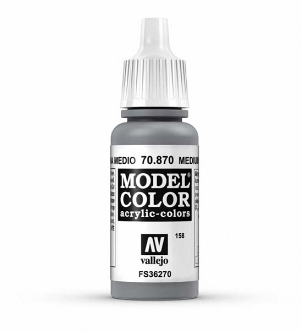 Vallejo Model Color 158 Medium Sea Grey