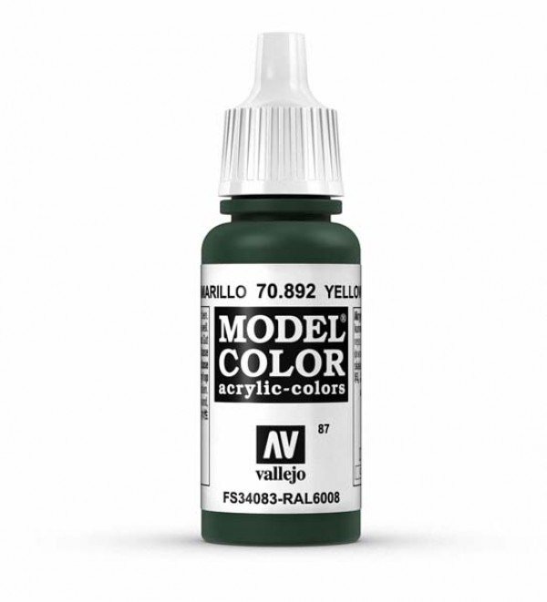 Vallejo Model Color 87 Yellow Olive