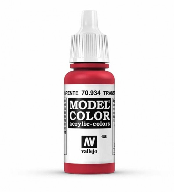 Vallejo Model Color 186 Red Transparent