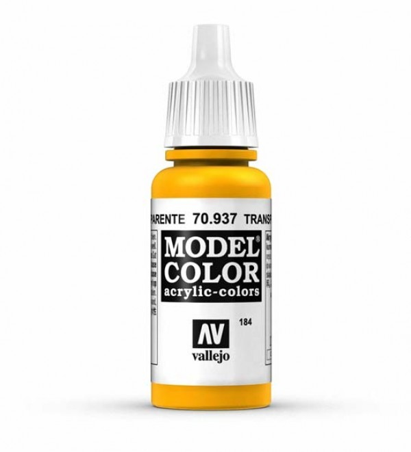 Vallejo Model Color 184 Yellow Transparent