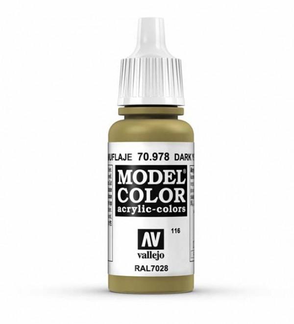 Vallejo Model Color 116 Dark Yellow