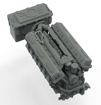 Műgyanta kiegészítő harcjárműhöz