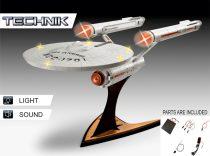 Revell Technik Star Trek USS Enterprise NCC-1701 makett (hang+fény)