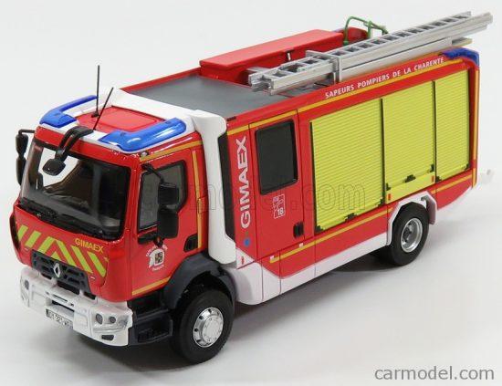 ELIGOR RENAULT D16 FPT-SR GIMAEX SDIS 16 TANKER TRUCK SAUPERS POMPIERS DE LA CHARENTE 2015
