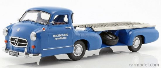 I-Scale MERCEDES RACING CAR TRANSPORTER TRUCK RENNTRANSPORTER 1955