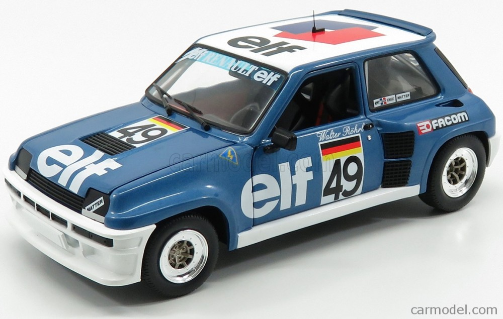 1//18 SOLIDO R5 TURBO N 49 RALLY EUROPEAN CUP 1981 W.ROHRL 1801307 RENAULT