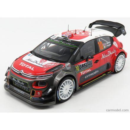 Norev Citroen C3 WRC N 10 RALLY MONTECARLO 2018 K.MEEKE - P.NAGLE