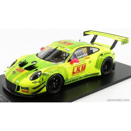 SPARK-MODEL PORSCHE 911 996 GT3 R TEAM MANTHEY RACING N 911 FIA GT WORLD CUP MACAU 2018 L.VANTHOOR