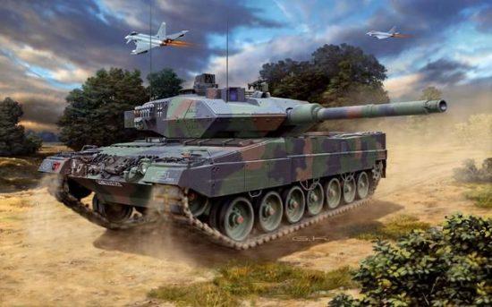 Revell Leopard 2 A6M makett