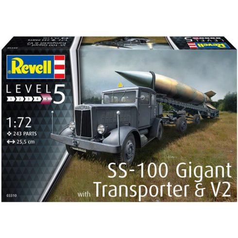 Revell SS-100 Gigant & Transporter + V-2 makett