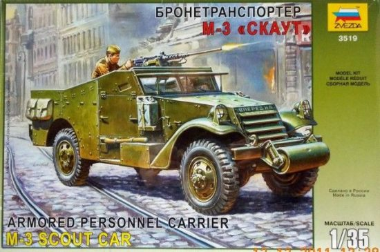 Zvezda M-3 Armored Scout Car makett