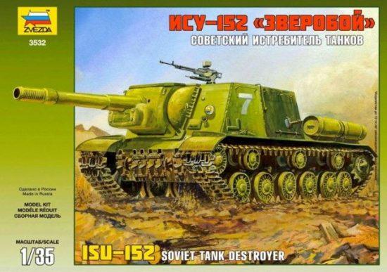 Zvezda ISU-152 Soviet Self-propelled Gun makett
