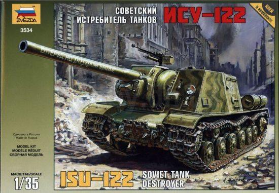 Zvezda Soviet tank destroyer ISU-122 makett