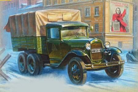 Zvezda GAZ-AAA Soviet Truck makett