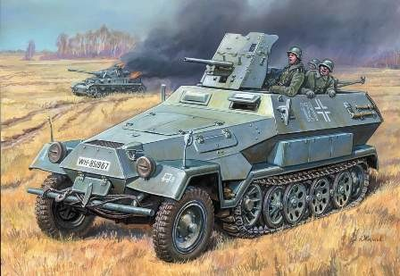 Zvezda Hanomag Sd.Kfz. - 251/1 Ausf B makett