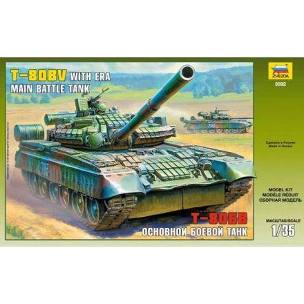 Zvezda T-80BV Russian Main Battle Tank makett