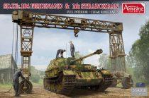 Amusing Hobby Sd.Kfz.184 Ferdinand & 16t Strabokran makett