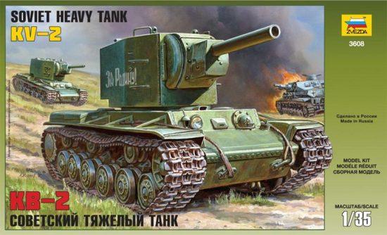 Zvezda KV-2 Russian Tank makett