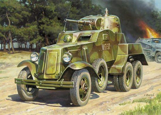 Zvezda Soviet Armored Car BA-10 makett