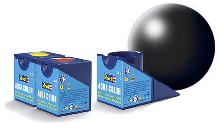Revell Aqua Color 302 Black Silk