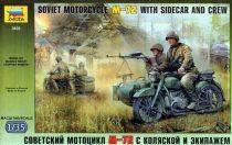 Zvezda Military Soviet WWII Motorcycle M-72 makett