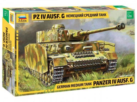 Zvezda German Pz.Kpfw.IV Ausf.G (Sd.Kfz.161) makett