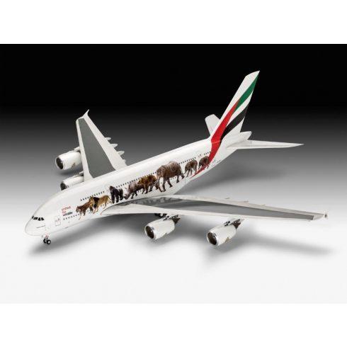 Revell Airbius A380-800 Emirates 'Wild Life' makett