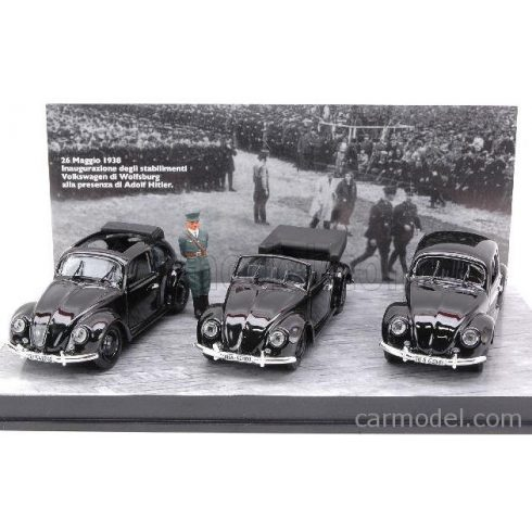 RIO MODELS VOLKSWAGEN 3 BEETLE OFFICIAL PRESENTATION WITH HITLER FIGURES