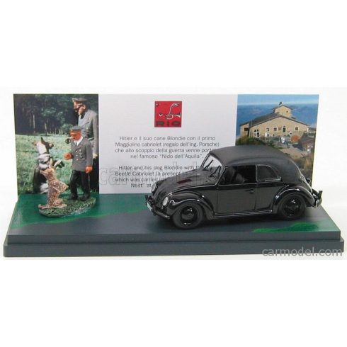 RIO MODELS VOLKSWAGEN BEETLE CABRIOLET WITH HITLER AND IS DOG BLONDIE - EAGLE'S NEST 1938 - NIDO DELL'AQUILA 1938