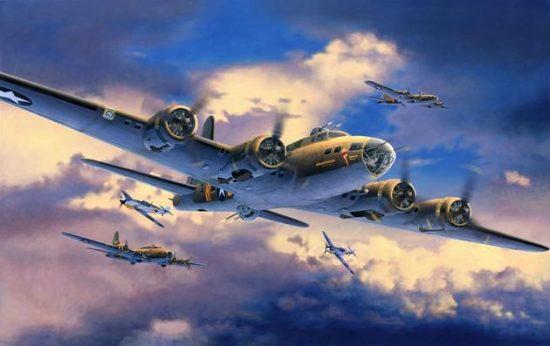 Revell B-17F Memphis Belle makett