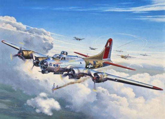 Revell B-17G Fling Fortress makett