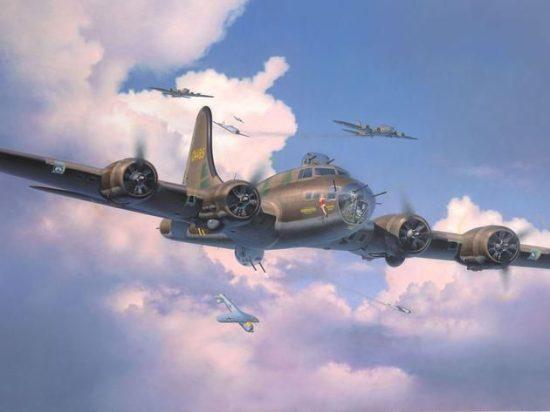 Revell B-17F Flying Fortress Memphis Belle makett