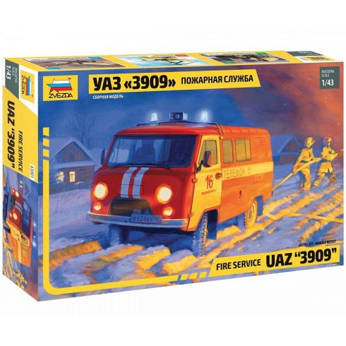 Zvezda UAZ 3909 FIREFIGHTER CAR makett