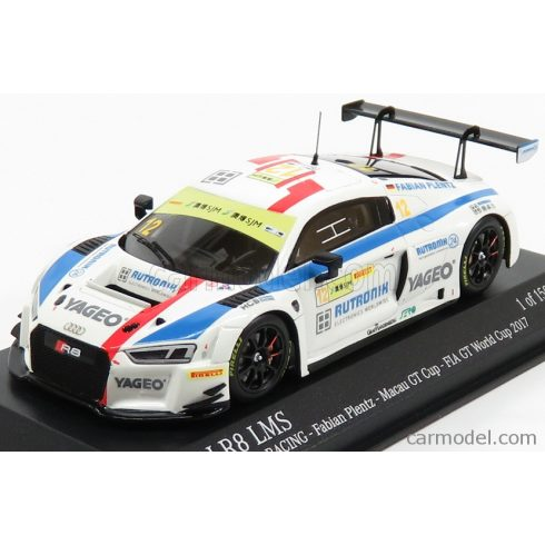 Minichamps AUDI  R8 LMS TEAM HCB RUTRONI RACING N 12 FIA WORLD GT CUP MACAU 2017 PLENTZ