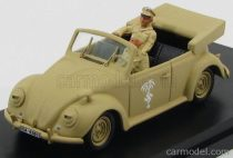 RIO MODELS VOLKSWAGEN BEETLE CABRIOLET AFRICA KORPS 1943 - WITH ROMMEL + DRIVER