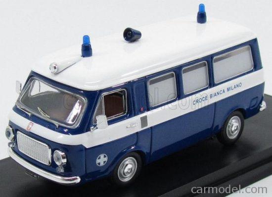RIO MODELS FIAT 238 MINIBUS AMBULANZA CROCE BIANCA MILANO 1973
