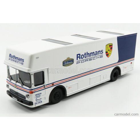 Schuco MERCEDES BENZ O317 TRUCK CAR TRANSPORTER PORSCHE ROTHMANS 1984