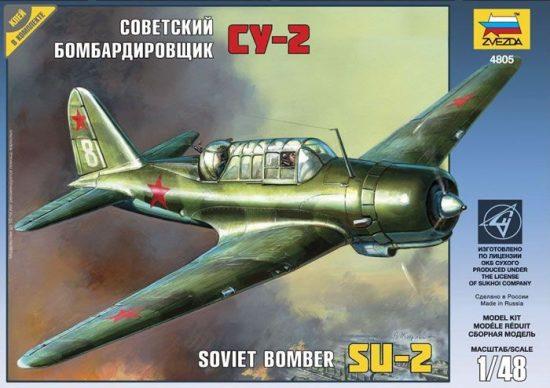 Zvezda SU-2 Soviet Light Bomber makett
