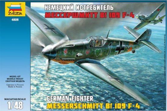 Zvezda Messerschmitt Bf-109 F4 makett