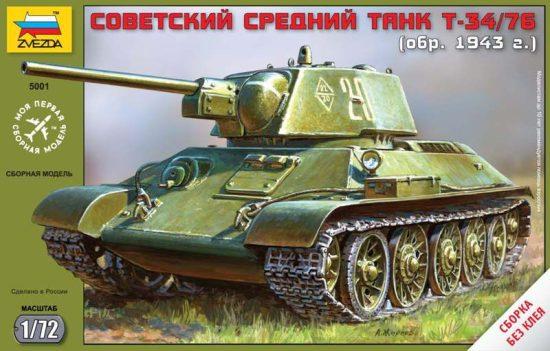 Zvezda T-34 Soviet Medium Tank makett