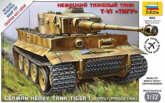 Zvezda Tiger I German Tank makett