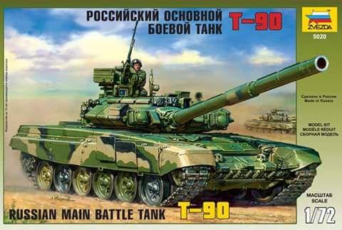 Zvezda Russian Tank T-90 makett
