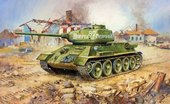 Zvezda T-34/85 Soviet Medium Tank makett
