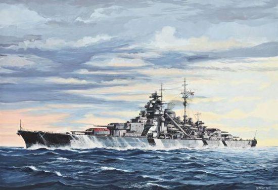 Revell Battleship Bismarck makett