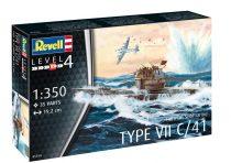Revell U-Boot Typ VII C/41 makett