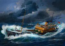 Revell Northsea Fishing Trawler makett