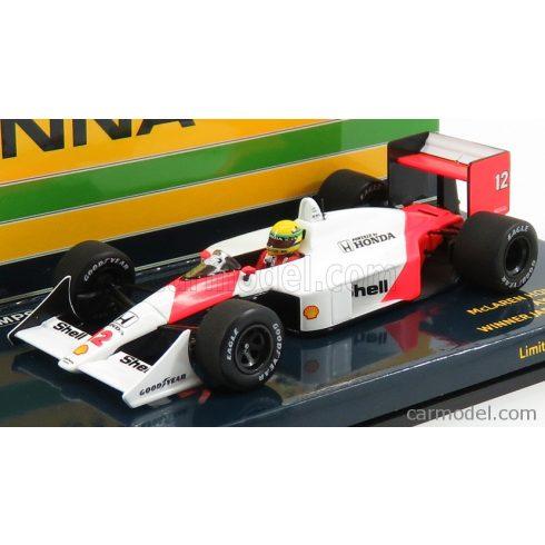 Minichamps McLAREN F1 HONDA MP4/4 N 12 WINNER JAPAN GP AYRTON SENNA 1988 WORLD CHAMPION