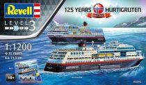 Revell HURTIGRUTEN 125th Anniversary (TROLLFJORD & MIDNATSOL) makett