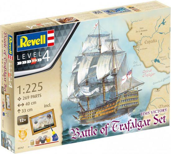 Revell Model Set BATTLE OF TRAFALGAR makett
