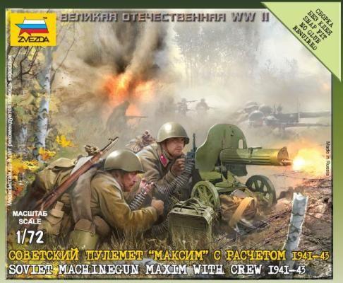 Zvezda Sovielt Machinegun Crew 1941 makett